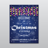 Christmas evening poster Royalty Free Stock Image