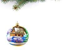 Christmas evergreen spruce tree Stock Photos