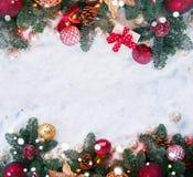 Christmas scene with snow Stock Image