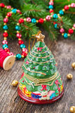 Christmas evergreen tree Stock Images