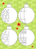The christmas exercise - Santa Claus - illustration and work page for the children Royalty Free Stock Photography