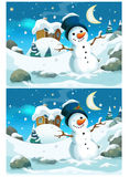 Christmas exercise - searching differences Royalty Free Stock Image