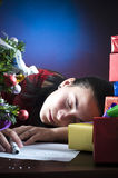 Christmas exhaustion Royalty Free Stock Photography