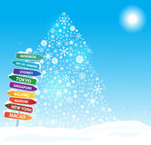 Christmas  exotic trip. Eps10 Royalty Free Stock Image