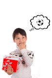 Christmas expectation, Ball Royalty Free Stock Photography