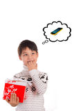 Christmas expectation, phone Stock Image