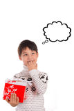 Christmas expectation, Thought bubbles Stock Photography