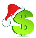 Christmas expenses illustration concept. Design Stock Images