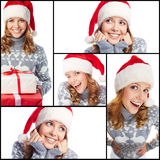 Christmas expressions Stock Images