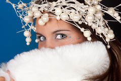 Christmas eyes Stock Image