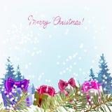 Christmas för fader för mallhälsningkort gåva, etikett, din text, Santa Claus royaltyfri illustrationer