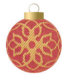Christmas fabric ball Royalty Free Stock Image