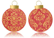Christmas fabric balls Royalty Free Stock Photography