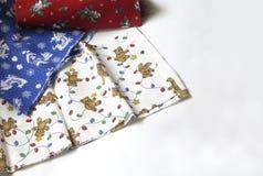 Christmas Fabrics Royalty Free Stock Photo