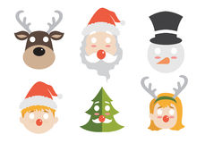 Christmas face. For children have funny Royalty Free Stock Photos