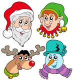Christmas faces collection 2 Royalty Free Stock Images