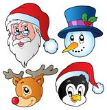 Christmas faces collection 3 Royalty Free Stock Images