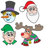 Christmas faces collection Royalty Free Stock Images