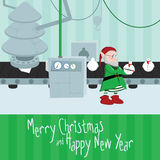 Christmas factory illustration Stock Photo