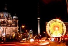 Christmas Fair. Unter den Linden Berlin during Christmas time royalty free stock photo