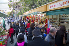 Christmas fair in Barcelona Stock Image