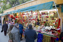 Christmas fair in Barcelona Royalty Free Stock Images