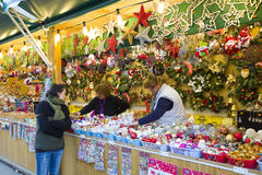 Christmas fair in Barcelona Royalty Free Stock Photo