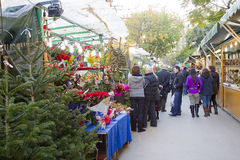 Christmas fair in Barcelona Stock Photo