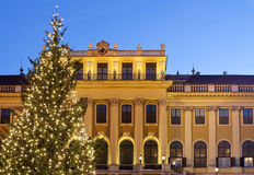 Christmas fair castle schoenbrunn, Vienna Stock Images