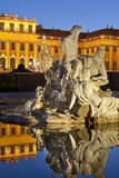 Christmas fair castle schoenbrunn, Vienna Stock Photos