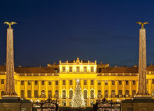 Christmas fair castle schoenbrunn, Vienna Royalty Free Stock Images