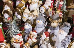 Christmas fair in the center of Munich with New Years and souvenirs for tourists city residents. stock images