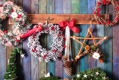 Christmas fair decor stock images