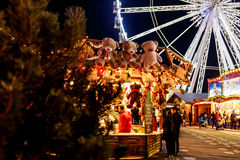 Christmas fair in Hyde park in 2016. London stock images