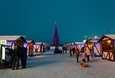 Christmas Fair in Kazan, Russia. Winter Christmas Fair in Kazan, Russia stock photos