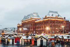 Christmas Fair at the Manege Square Stock Photography