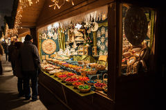 Christmas Fair on Maria-Terezian Platz, Vienna Royalty Free Stock Photo