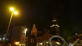Christmas fair market. Riga, Latvia, december 2016. 4K UHD. Christmas fair market. Riga, Latvia, december 2016 4K UHD native video stock video
