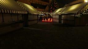 Christmas fair market. Riga, Latvia, december 2016. 4K UHD. Christmas fair market. Riga, Latvia, december 2016 4K UHD native video stock video footage