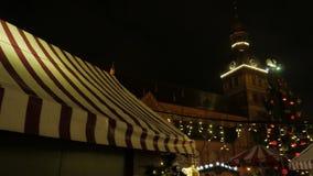 Christmas fair market. Riga, Latvia, december 2016. 4K UHD. Christmas fair market. Riga, Latvia, december 2016 4K UHD native video stock footage