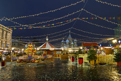 Christmas fair in  Moscow, Red square, Russia Stock Photos
