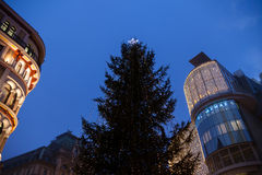 Christmas Fair near Stephansdom, Vienna Royalty Free Stock Photo