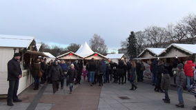 Christmas fair people stock video