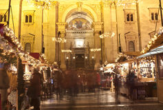 Christmas fair before the Saint Stephan Basilica. In Budapest Royalty Free Stock Photography