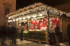 Christmas fair before the Saint Stephan Basilica Royalty Free Stock Photography