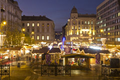 Christmas fair before the Saint Stephen's Basilica Royalty Free Stock Image