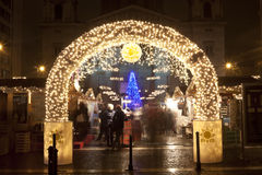 Christmas fair in Budapest Royalty Free Stock Photography