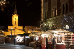 Christmas fair in the Saint Stephen square in Ujpest Stock Photo