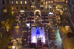 Christmas fair before the Saint Stephens Basilica Royalty Free Stock Image