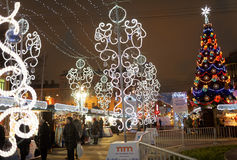 Christmas Fair in St. Petersburg, Russia Stock Photo